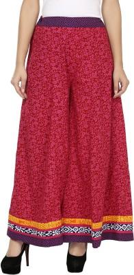 Kaaviyaz Regular Fit Women's Maroon, Pink Trousers
