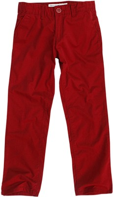 SuperYoung Regular Fit Boy's Red Trousers