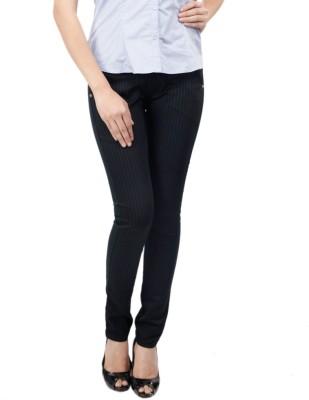 Zaab Slim Fit Women,s Black Trousers