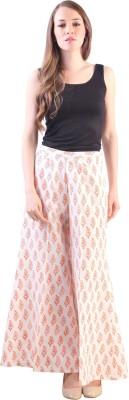 Libas Regular Fit Women's White Trousers at flipkart