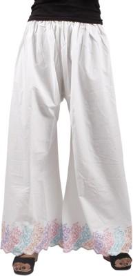 Taraz Regular Fit Women's White Trousers