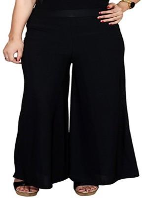 fashionmandi Regular Fit Women's Black Trousers