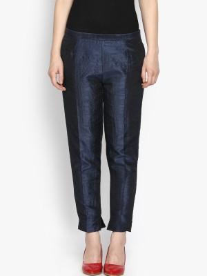 Folklore Slim Fit Women's Dark Blue Trousers