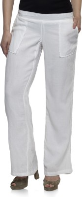 One Femme Regular Fit Women's White Trousers