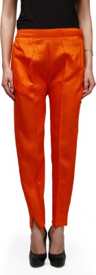Legis Regular Fit Women,s Orange Trousers