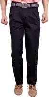 Studio Nexx Regular Fit Mens Black Trousers