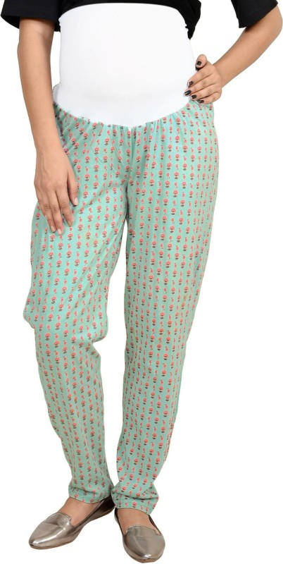 9teen Again Regular Fit Women's Green Trousers