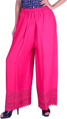 LETSGETIT Regular Fit Women's Pink Trousers