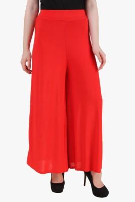 Modattire Regular Fit Women's Red Trousers
