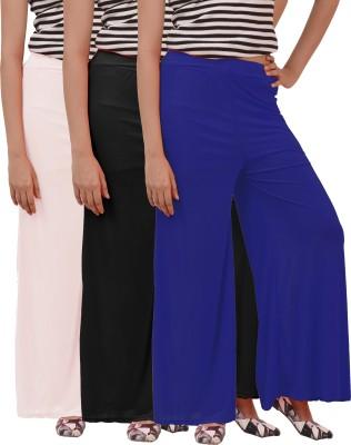 Ace Regular Fit Women's Blue, White, Black Trousers