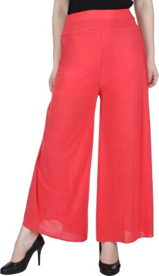 Broadstar Regular Fit Womens Orange, Red Trousers