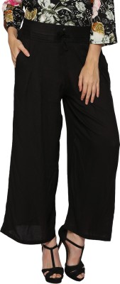 Prakum Regular Fit Women's Black Trousers