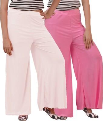 carrol Regular Fit Women's White, Pink Trousers