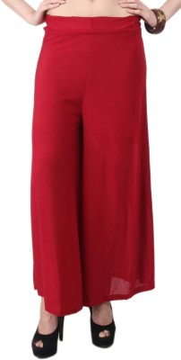 C/Cotton Comfort Regular Fit Women's Red Trousers
