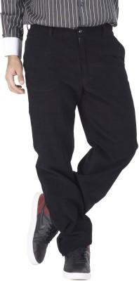 Silkina Regular Fit Men's Black Trousers