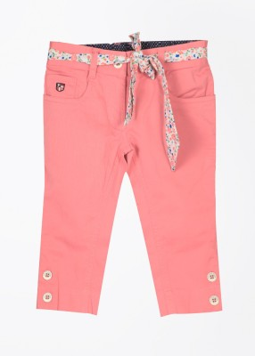 U.S. Polo Assn. Slim Fit Girl's Pink Trousers