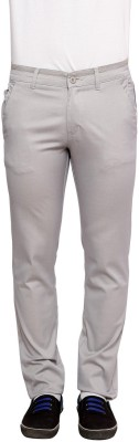 Urban Navy Slim Fit Men's Silver Trousers