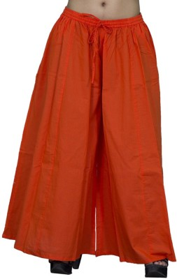 Chhipaprints Regular Fit Women's Orange Trousers