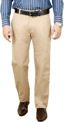 Zrestha Slim Fit Men's Cream Trousers
