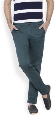 OFFLINE Slim Fit Men,s Green Trousers