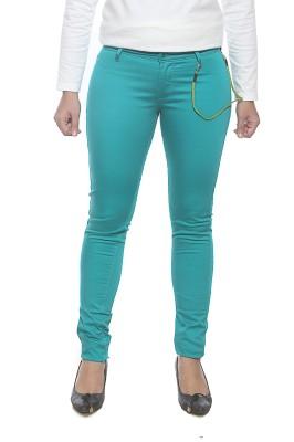 Spykar Slim Fit Women's Green Trousers