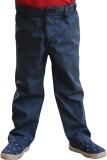 Snowflakes Regular Fit Boys Blue Trouser...