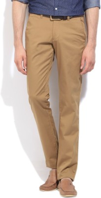 Easies Slim Fit Men's Beige Trousers