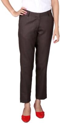 Ramarrow Slim Fit Women's Brown Trousers