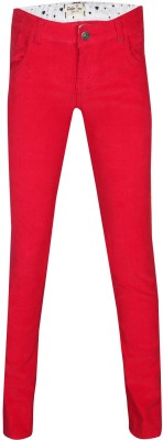 Gini & Jony Regular Fit Girl's Red Trousers