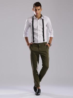 HRX by Hrithik Roshan Regular Fit Men's Dark Green Trousers