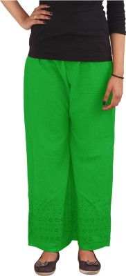 Xarans Regular Fit Women's Green Trousers