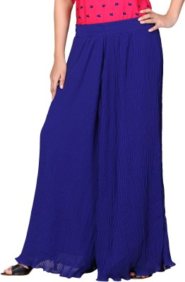 Lifestyle Retail Regular Fit Women's Blue Trousers