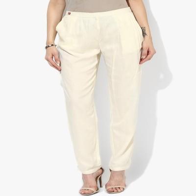 shree Regular Fit Women's White Trousers