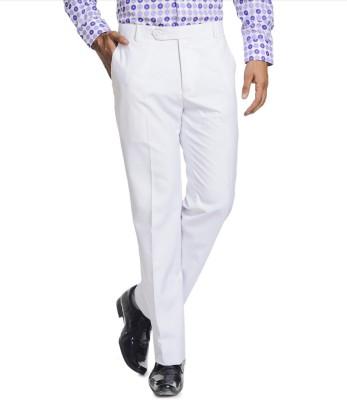 Jaabili Regular Fit Men's White Trousers