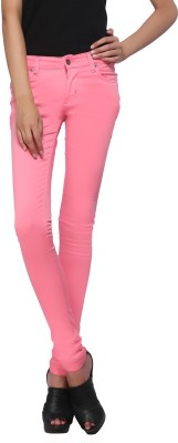 Zedon Slim Fit Women's Pink Trousers