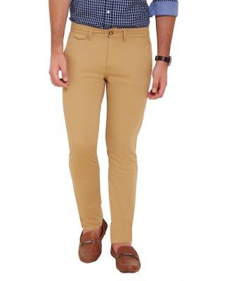 Slub By INMARK Regular Fit Men's Beige Trousers