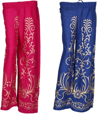 SAANKHYA Regular Fit Women's Purple, Pink Trousers
