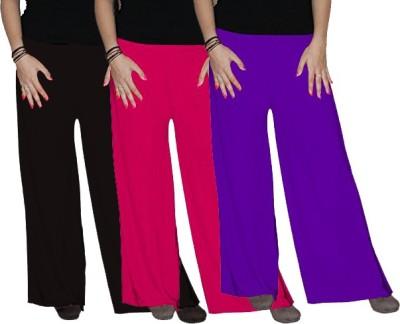 Ace Regular Fit Women's Black, Purple, Pink Trousers