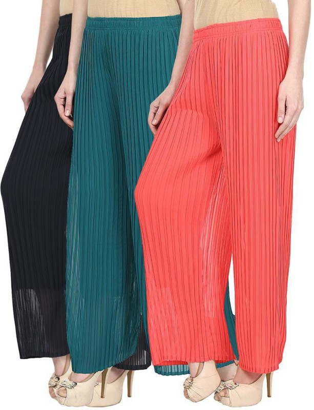 SYS Regular Fit Women's Blue, Green, Pink Trousers