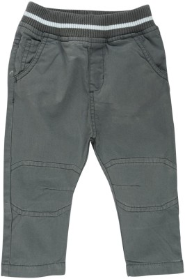 Mom & Me Regular Fit Baby Boy's Grey Trousers