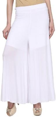 Edge Plus Regular Fit Women's White Trousers