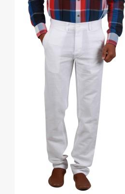 Cotton colors Slim Fit Men's White Trousers