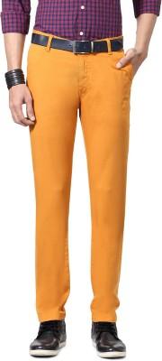 Allen Solly Slim Fit Men,s Orange Trousers