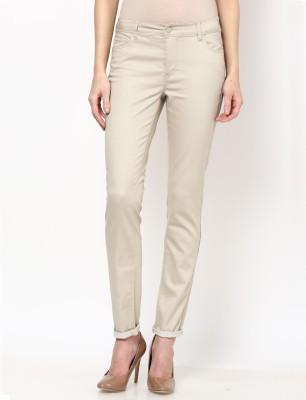 Only Skinny Fit Women's Beige Trousers