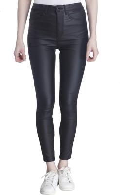 Only Skinny Fit Women's Black Trousers at flipkart