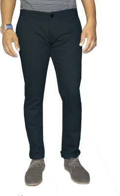 Oiin Slim Fit Men's Black Trousers