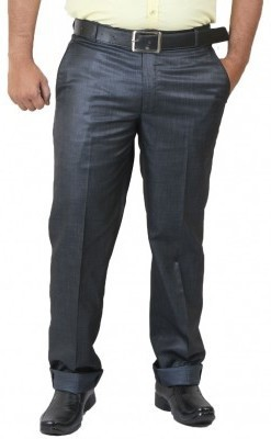 DMARK Slim Fit Men's Blue Trousers