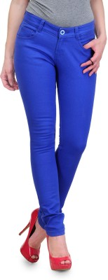Yepme Slim Fit Women's Blue Trousers at flipkart