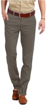 Perfect Regular Fit Men's Grey Trousers