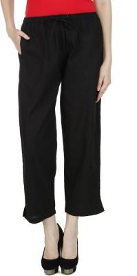 Drap Slim Fit Men's Black Trousers